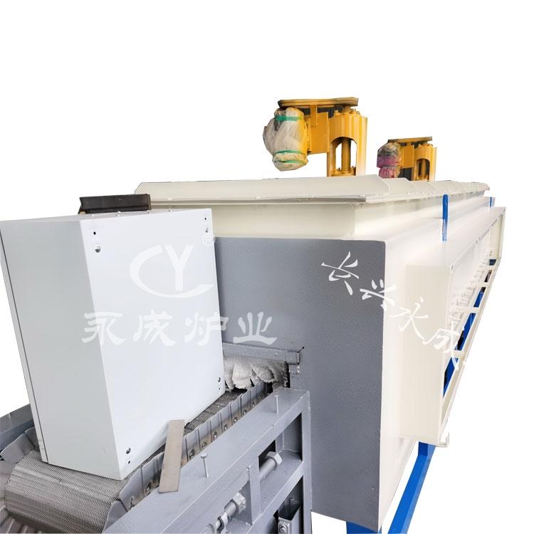 Aluminum rod heating furnace