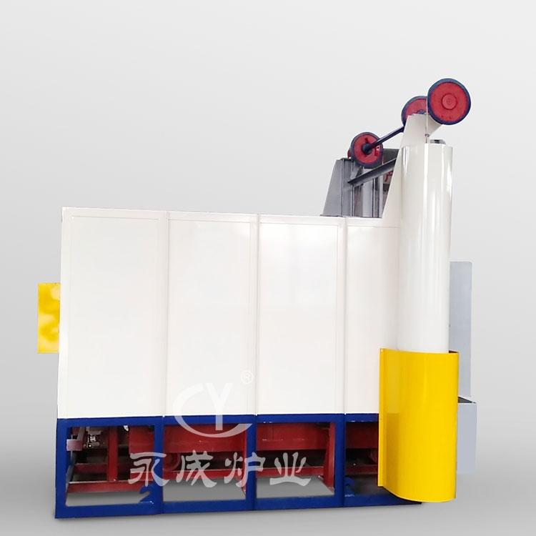 Trolley type heat treatment furnace